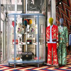 """DOVER STREET MARKET, New York, """"Installation by GUCCI"""", pinned by Ton van der Veer"""