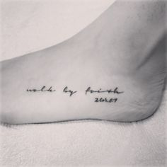 walk by faith tattoo
