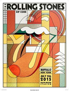 The Rolling Stones poster for Buffalo design by Arian Buhler Collage Mural, Bedroom Wall Collage, Photo Wall Collage, Tour Posters, Band Posters, Poster Wall, Poster Prints, Gig Poster, Vintage Music Posters