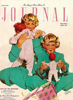LHJ cover Illustration  -  Dec 1948  by Al Parker