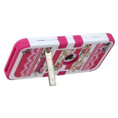 Insten Tuff Hard PC/ Silicone Dual Layer Hybrid Case Cover with Stand For Apple iPod Touch 5th/ 6th Gen