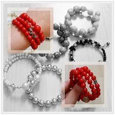 Pulseira espiral com pedras vermelhas. Exclusivo #benchiniornatos - R$11.90 Fácil de colocar no pulso. WhatsApp 11945676365