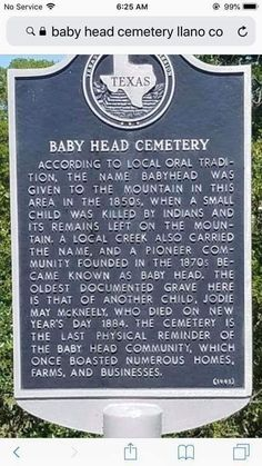Texas Hill Country, Baby Head, Cemetery
