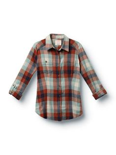 Stormy Day Plaid Button Up Shirt- Quiksilver