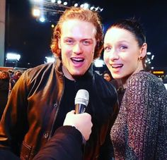 Way-of-the-Guns Blog: Sam and Catriona T2 Trainspotting Premiere being their adorable loving selves