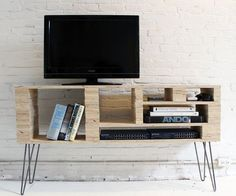 How To Make a Media Console For Under $100 — HomeMade Modern except brick