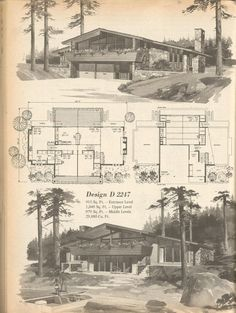 vintage house plans vacation homes 1960s atomic ranch