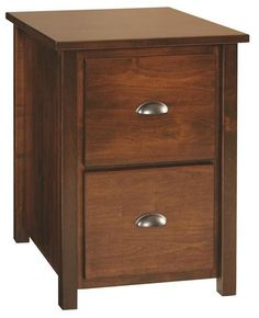 Amish Eshton Vertical File Cabinet Choice of 2 or 3 drawers for the Eshton that stores legal size and letter size files. Amish made in wood and finish you choose.