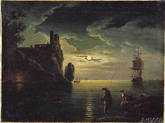 Claude Joseph Vernet - Evening Seascape