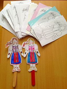 This Folklore doll is an ideal craft for girls and boys. Originally, I created it for Mothers day workshop which was in *Folklore mode*   Later on I used it for logics- Finish the picture.