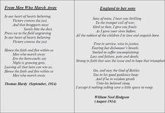 War Poetry: First World War