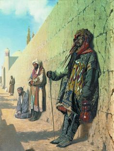 Василий Верещагин. Нищие в Самарканде. Vasily Vereshchagin. Beggars in Samarkand.