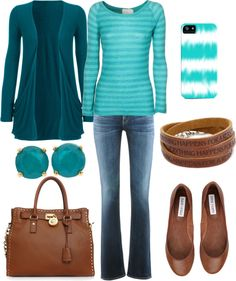 """Turquoise Spring 2013 Outfit"" by natihasi ❤ liked on Polyvore"