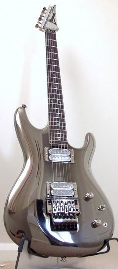 If the Silver Surfer had a guitar, this would be it. Joe Satriani Chrome Boy guitar