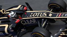 Kimi Raikkonen's Lotus in Barcelona 2012