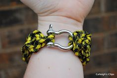 Calleigh's Clips & Crochet Creations: Father's Day Gift Idea - Crochet Paracord Bracelet Cuff Pattern