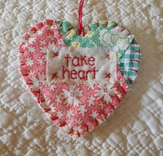 Wordz From the Heart Snippet Ornament TAKE HEART by wordzoflife