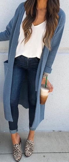 19 Cheap Cardigan Outfit You Must Try During Winters - . 19 Cheap Cardigan Outfit You Must Try During Winters - fall outfits casual Beauty And Fashion, Fashion Mode, Look Fashion, Fashion For You, Cheap Fashion, Fall Fashion, Fall Winter Outfits, Autumn Winter Fashion, Winter Clothes