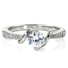 Womens Sterling Silver Entwined Love Russian Ice on Fire Simulated Diamond CZ Promise Friendship Ring (avail. in sizes 4 thru 10.25)  Price:$27.00