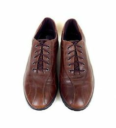 Ecco Shoes Leather Brown Comfort Lace Up Athletic Casual Oxfords 10 10 5 41 | eBay
