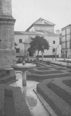 Generación del 27. Patio de los Naranjos de la Catedral de Málaga, en cuya cripta de San Lázaro está enterrado José Mª Hinojosa.