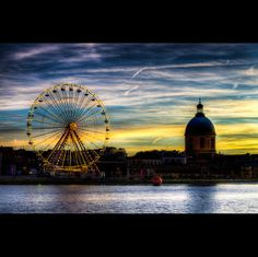 Toulouse Plages - www.hexia.fr Ville Rose, Fair Grounds, In This Moment, Toulouse France, Ferris Wheels, Midi, Travel, Museums, Cities