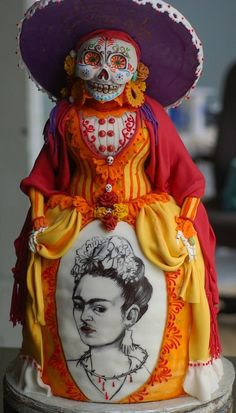 Day of the Dead cake with Frida