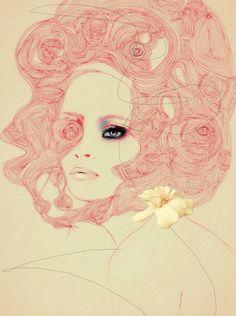 Very pretty pink illustration x