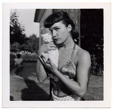 Bettie Page and cat