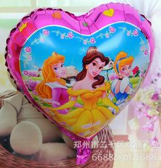 Princess Balloons, Aluminium Foil, Kids Usa, Foil Balloons, Baby Kids, Snow White, Heart, Pink, Products