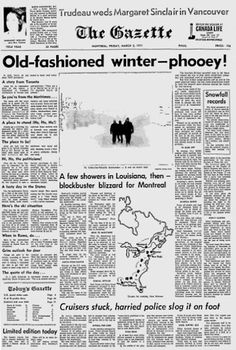 Montreal Gazette, March 1971. Montreal, Vancouver, Landscapes, Old Things, March, Memories, Times, Winter, Image