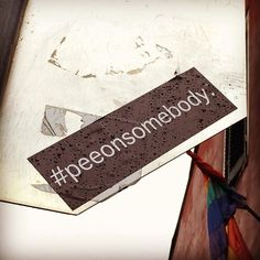 #peeonsomebody #nothankyou #royal&st.ann #NewOrleans #whereilive #frenchquarter #stickers #stickerart #profoundaesthetic #hmmmmm #wtfisthis by voodooesq