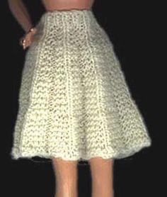 Barbie Doll Pleated Skirt Knitting Pattern