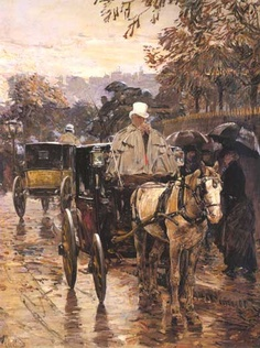 Rue Bonaparte   by Childe Hassam