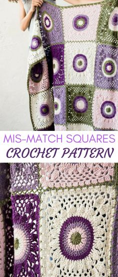 this is such a pretty crochet blanket pattern, all the purple hues i am in love with. squares are pretty straightforward as well. #crochetblanketpattern #crochetblanket #crochetgrannysquareblanketpattern #grannysquares #crochetgrannysquares #crochetflowerblanketpattern #affiliate #crochet #crochetpatterns