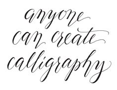 """""""Cheating calligraphy"""" is what I call the gorgeous thick and thin cursive style that I like to use. However, it technically is calligraphy."""