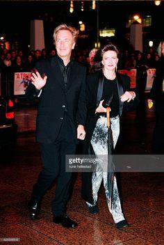 Arrival of actor Alan Rickman with his girlfriend Rima Horton.