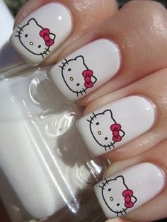 Hello Kitty Nail Decals by PineGalaxy on Etsy