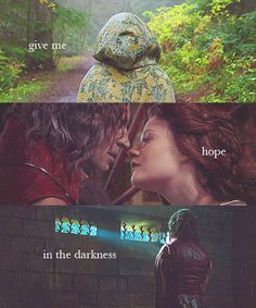 So give me hope in the darkness that I will see the light