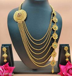 Jewellery Set FANCY ALLOY WOMEN DESIGNER JEWELLERY SETS Base Metal: Alloy Plating: Gold Plated Stone Type: Artificial Stones & Beads Sizing: Adjustable Type: As Per Image Multipack: 1 Country of Origin: India Sizes Available: Free Size   Catalog Rating: ★4.1 (480)  Catalog Name: Shimmering Glittering Jewellery Sets CatalogID_1788743 C77-SC1093 Code: 782-10013032-876