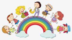 Rainbow, Dessins D'enfants, En Matière De Vecteur, Illustration De La MaternellePNG et vecteur