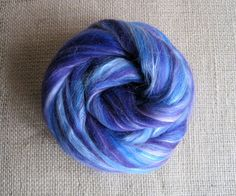 Mr Freeze  Merino Top Tussah Silk Spinning Felting by GnomeAcres, $15.00