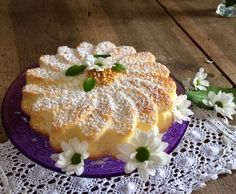 Crema Fresca, Mini Desserts, Food Art, Italian Recipes, Cheesecake, Food And Drink, Gluten Free, Cooking Recipes, Sweets