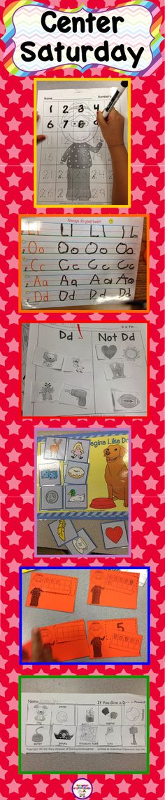 Here is a peek at my weekly centers for K. I know you are going to LOVE the ideas.