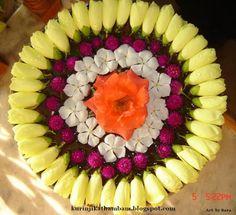 Kurinji Kathambam: Flower Decoration / Flower Kolam / Poo Kolam - 1