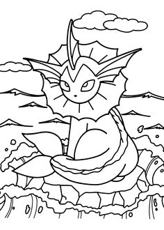 Pokemon coloring pages for kids, printable free
