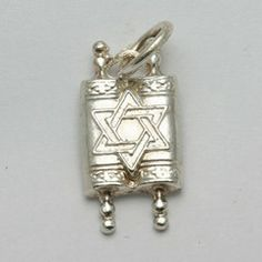 Sterling Silver Torah Pendant Star of David, perfect for a necklace or charm bracelet, only $35.99! #shavout