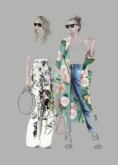 Fashion illustration by Agata Wierzbicka