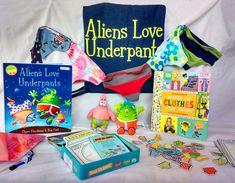 Aliens Love Underpants Storysack… made for Myatt Garden Primary School Storysacks Library
