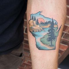 If you walk into a tattoo studio, you can easily see that there are virtually no limits to tattoo designs. and, as the work of a tattoo artist is much more than si Native American Ancestry, Native American Artwork, Cute Tattoos, All Tattoos, Wisconsin Tattoos, Crucifix Tattoo, David Tattoo, Lake Tattoo, Henna Ink